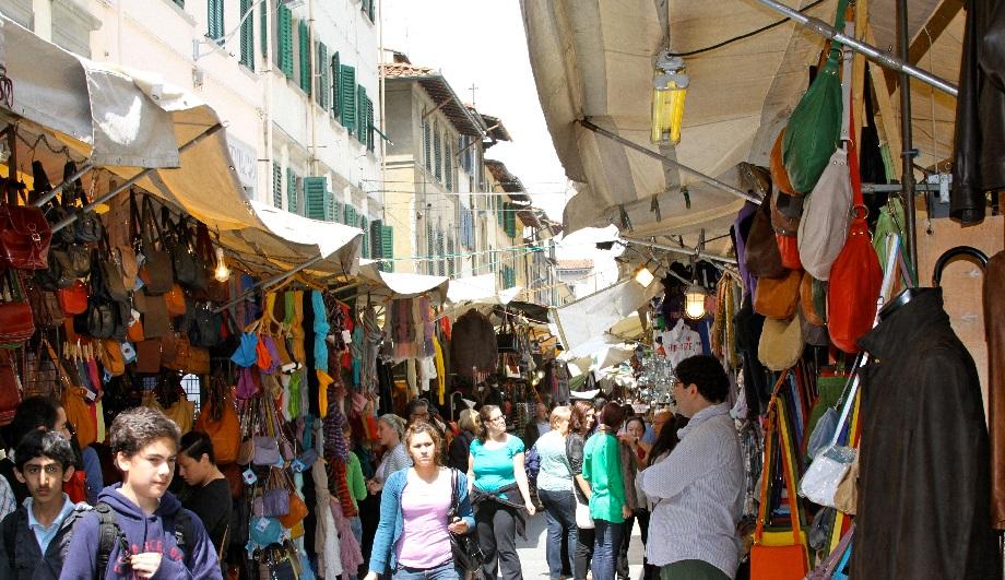 The San Lorenzo Market in Florence