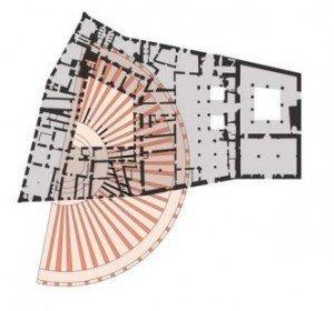 Old Roman Theater plan Palazzo Vecchio